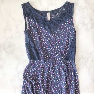 Xhilaration Navy Blue Fit And Flare Dress XS